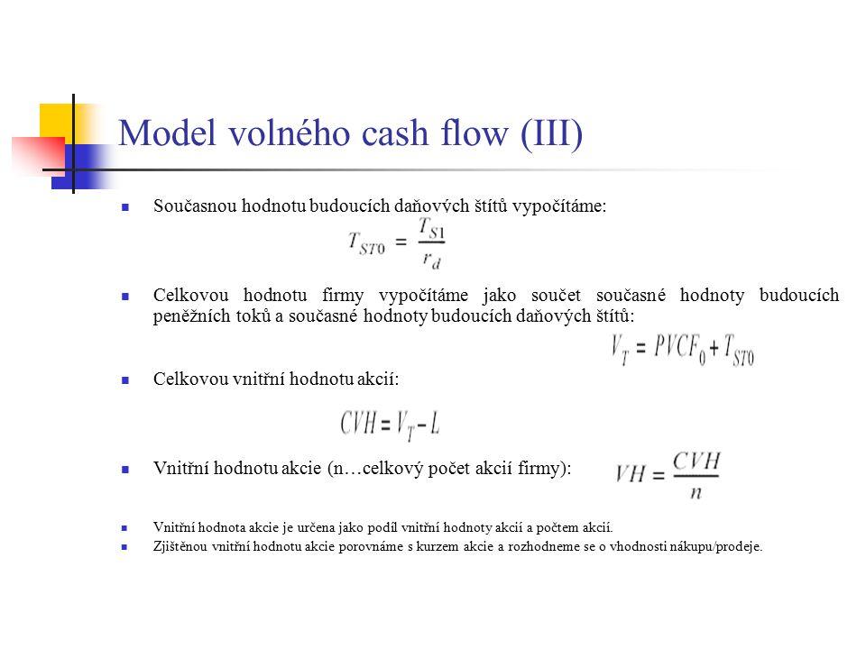 Model volného cash flow (III)