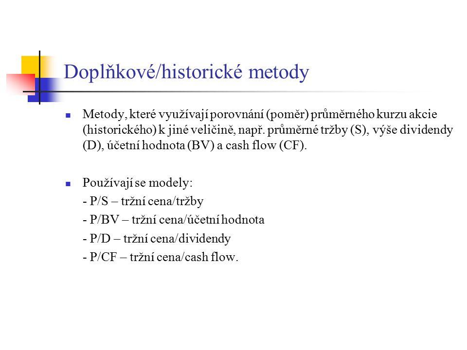 Doplňkové/historické metody