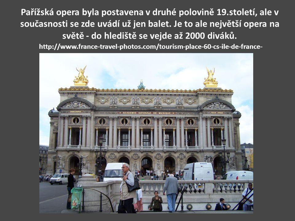 Pařížská opera byla postavena v druhé polovině 19