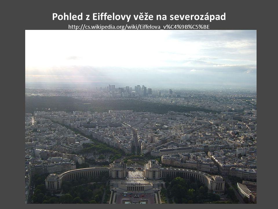 Pohled z Eiffelovy věže na severozápad http://cs. wikipedia