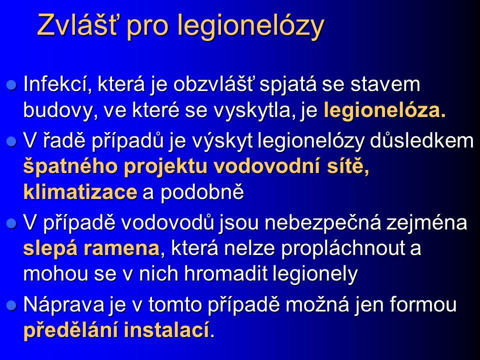 Zvlášť pro legionelózy