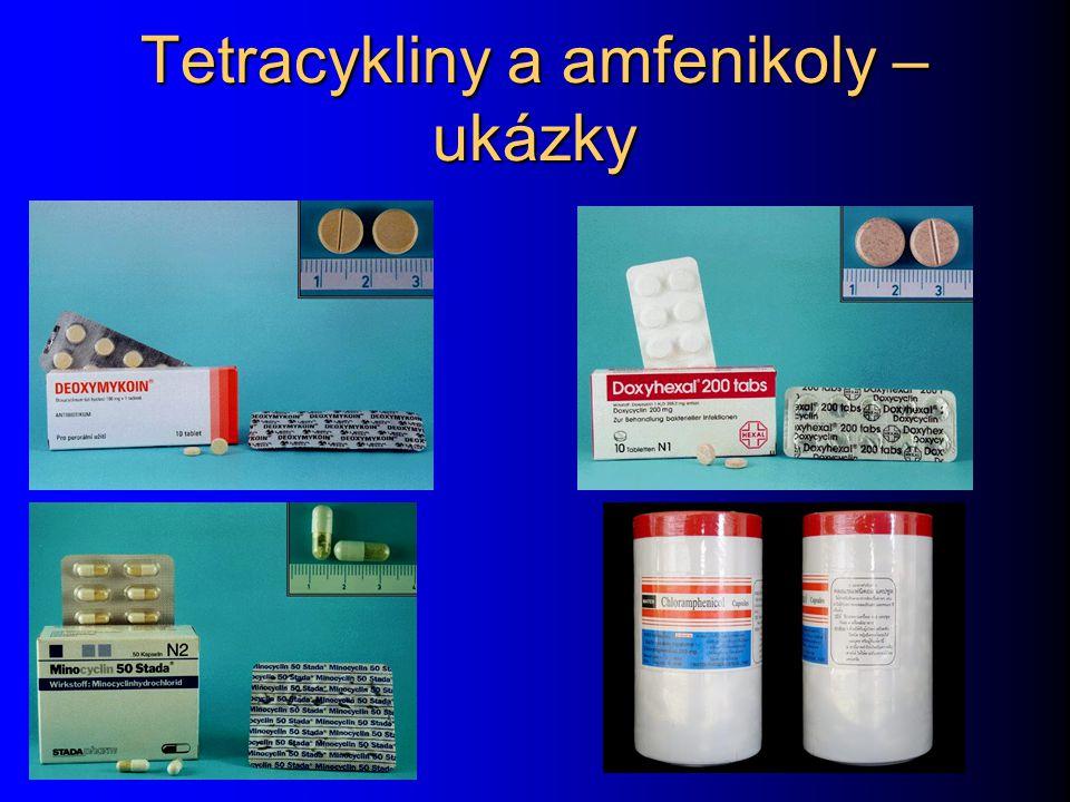 Tetracykliny a amfenikoly – ukázky