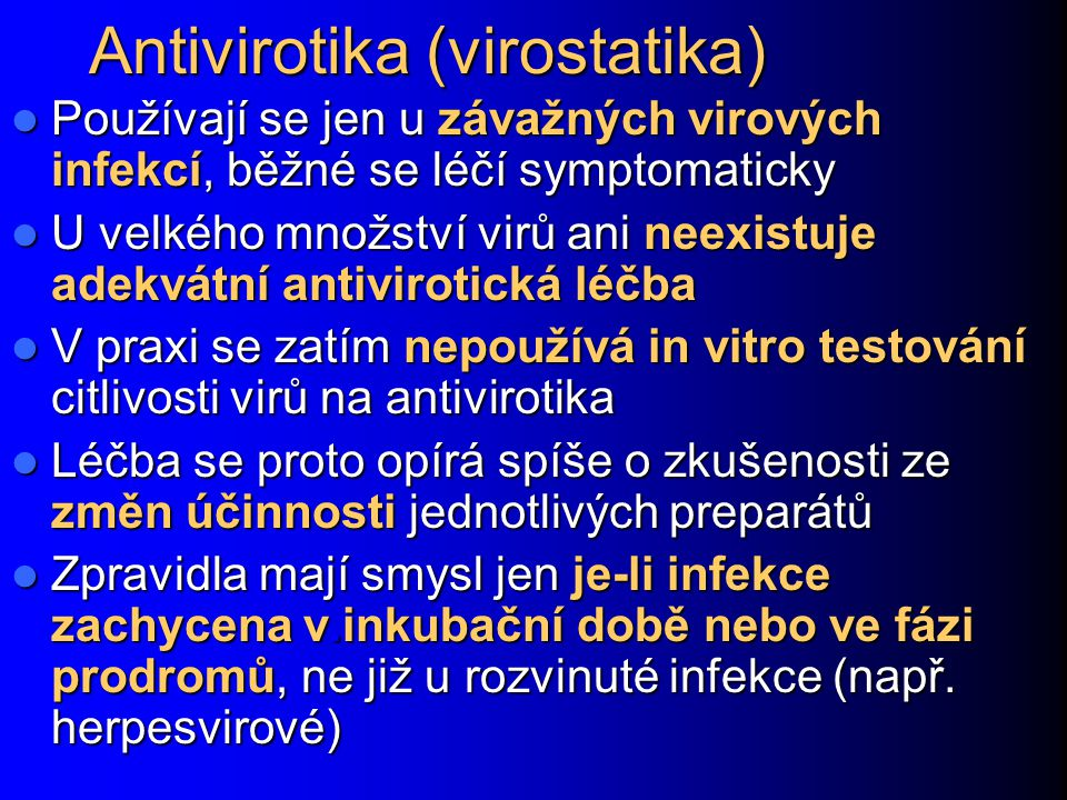 Antivirotika (virostatika)