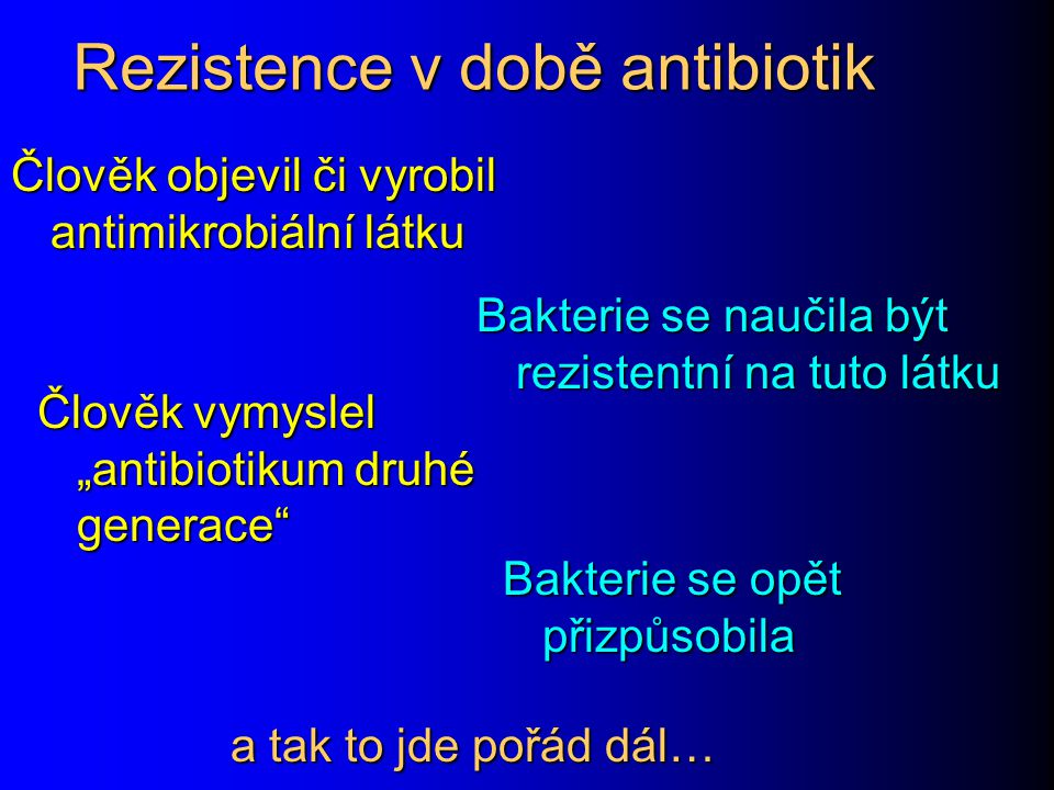 Rezistence v době antibiotik