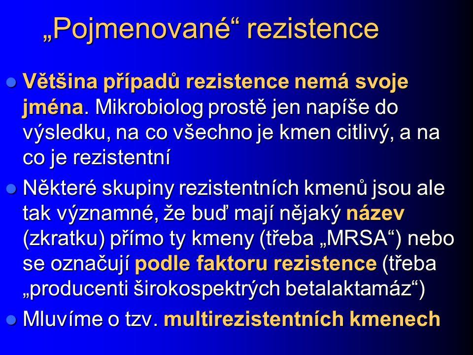 """""""Pojmenované rezistence"""