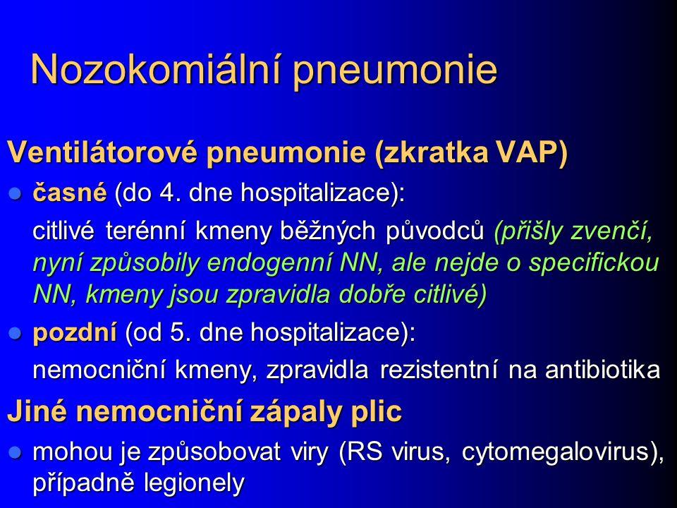 Nozokomiální pneumonie