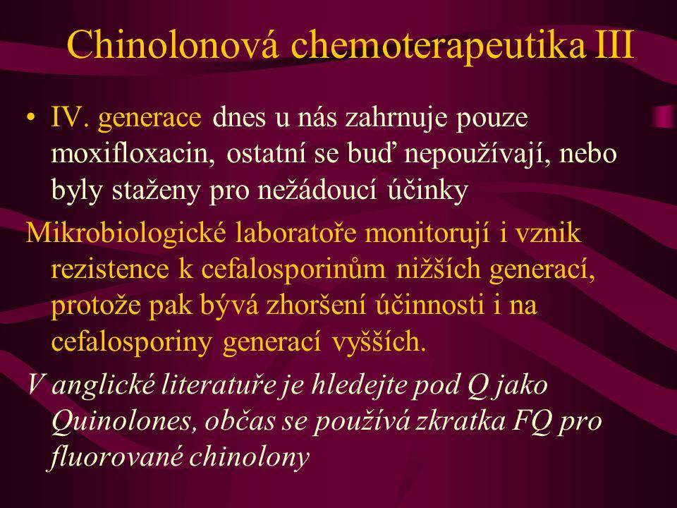 Chinolonová chemoterapeutika III