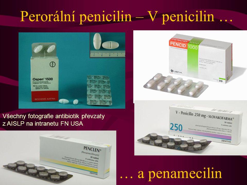 Perorální penicilin – V penicilin …