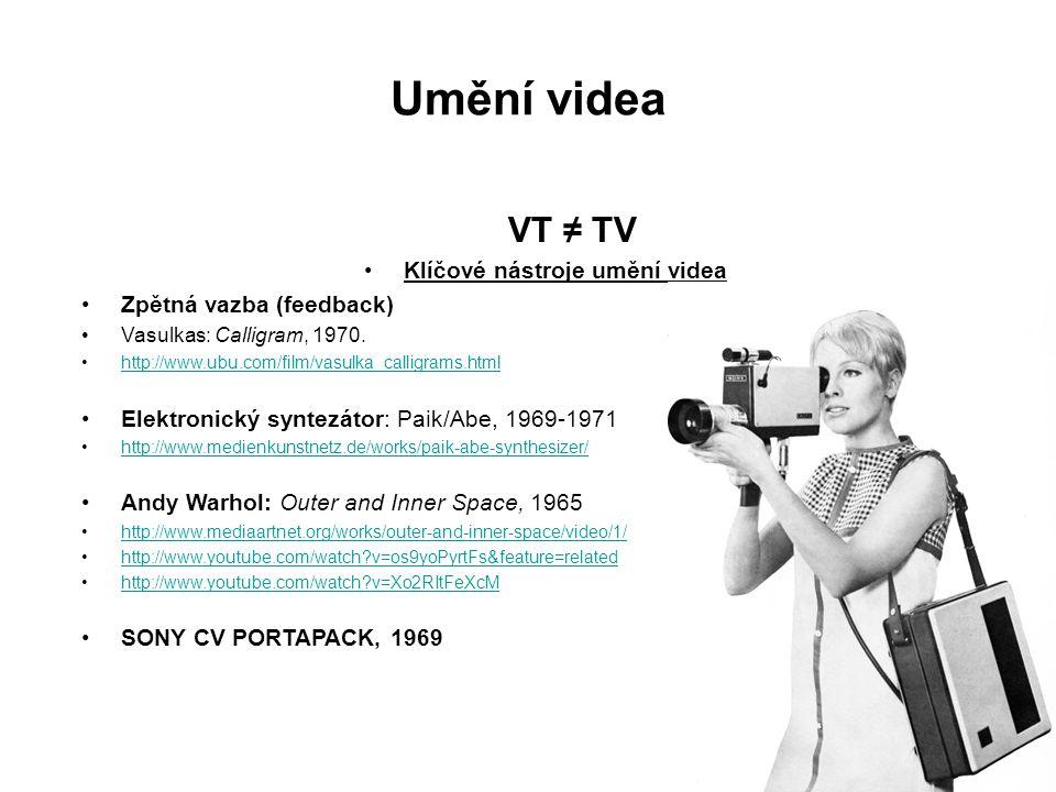 Klíčové nástroje umění videa