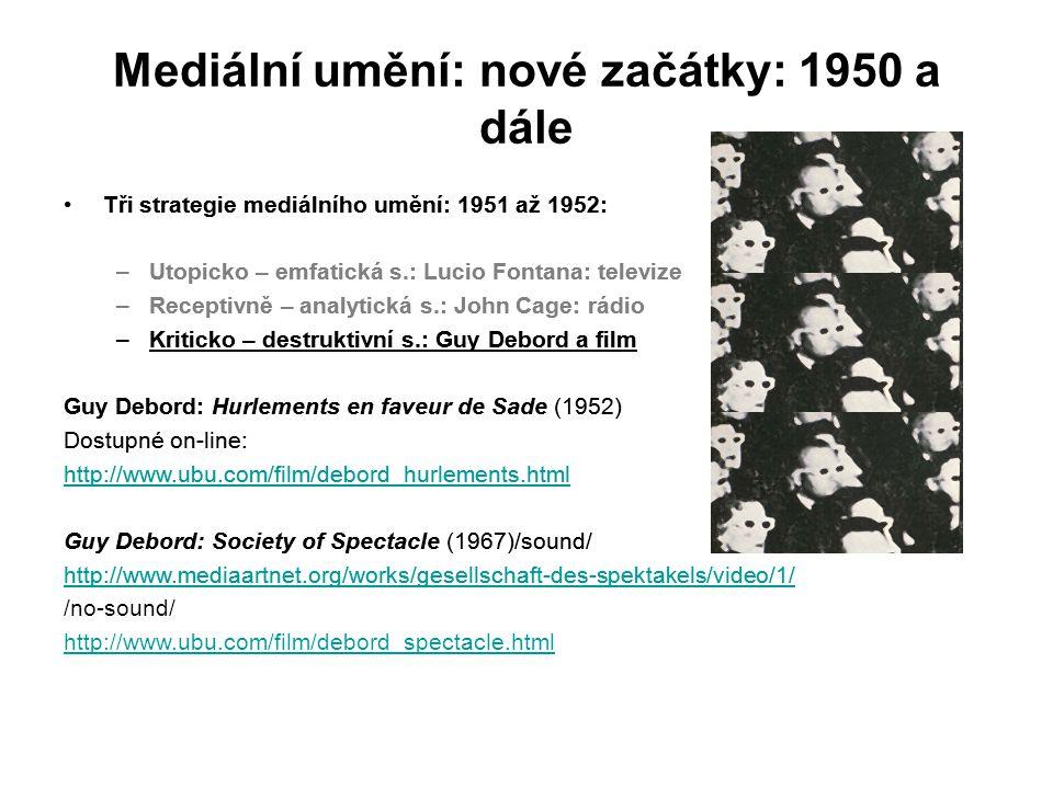 Mediální umění: nové začátky: 1950 a dále