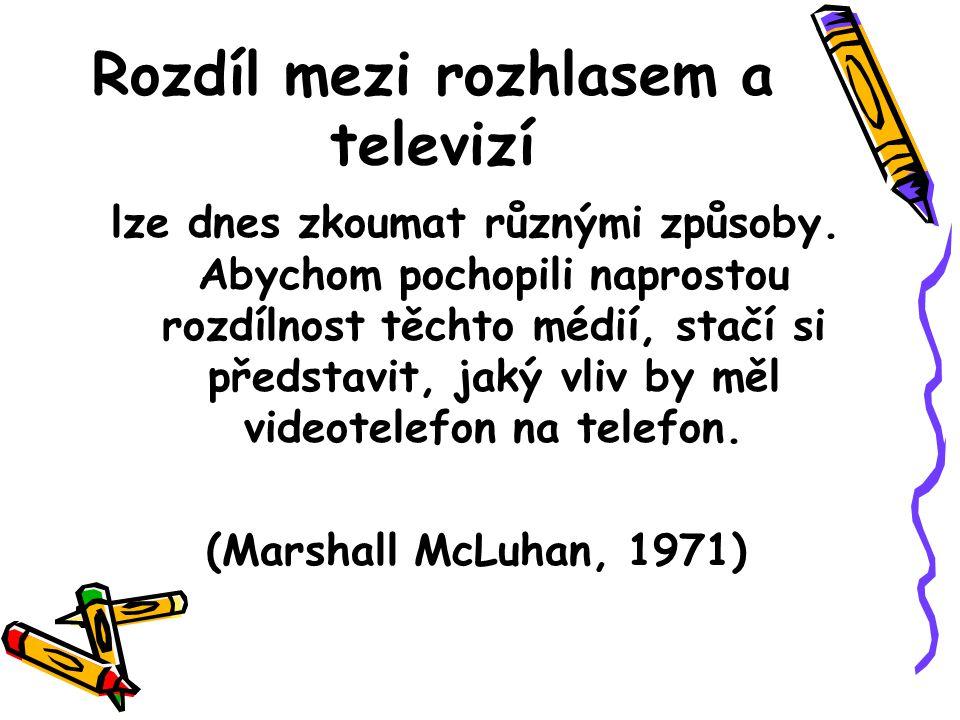 Rozdíl mezi rozhlasem a televizí
