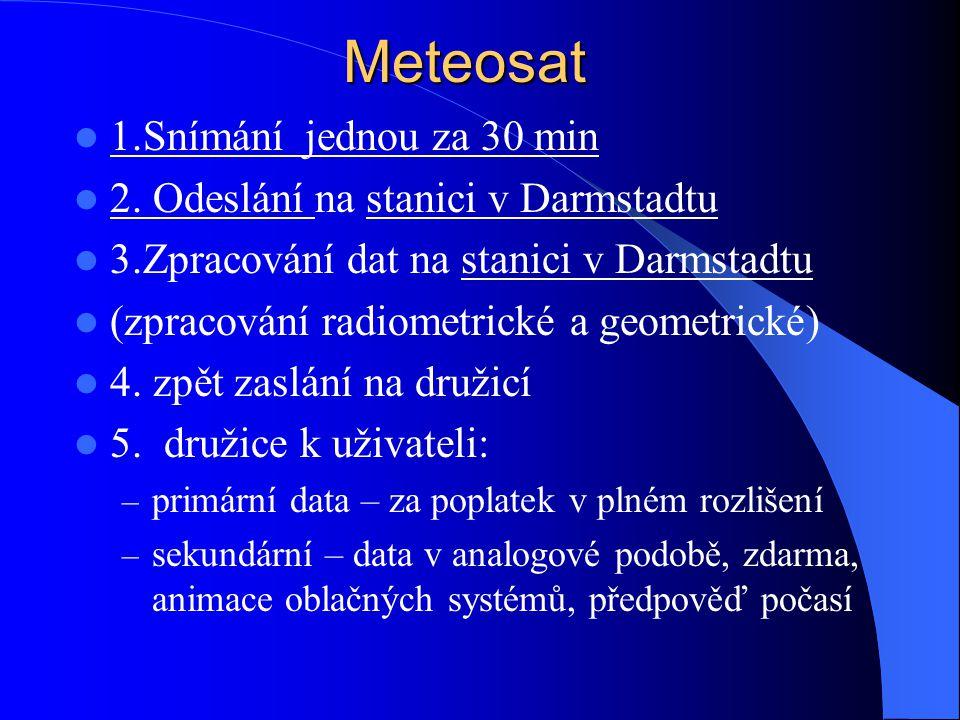 Meteosat 1.Snímání jednou za 30 min