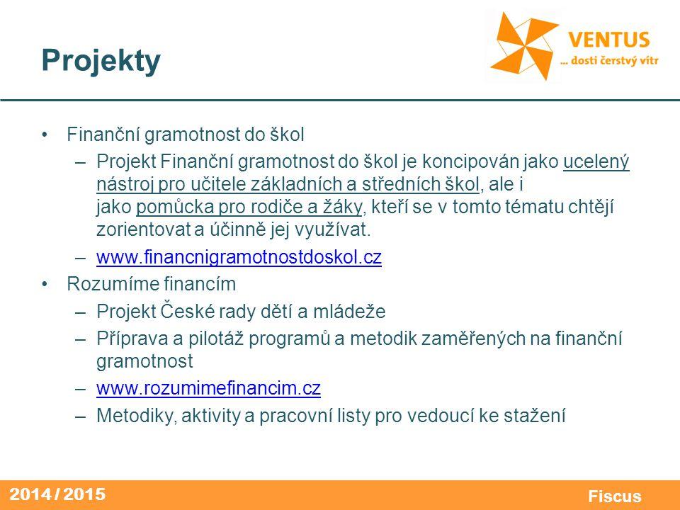 Projekty Finanční gramotnost do škol