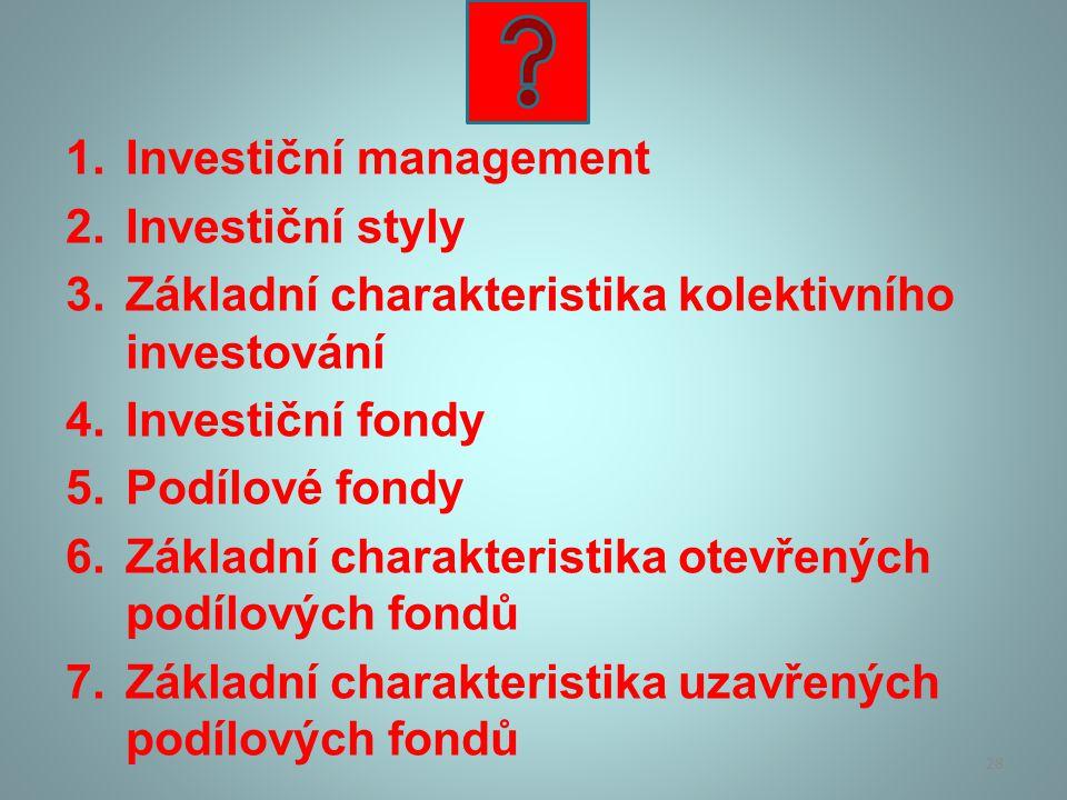 Investiční management