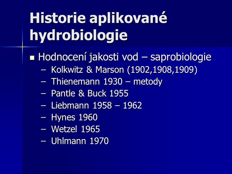 Historie aplikované hydrobiologie