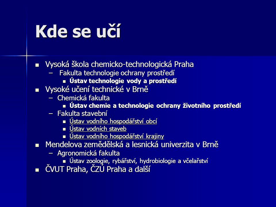 Kde se učí Vysoká škola chemicko-technologická Praha