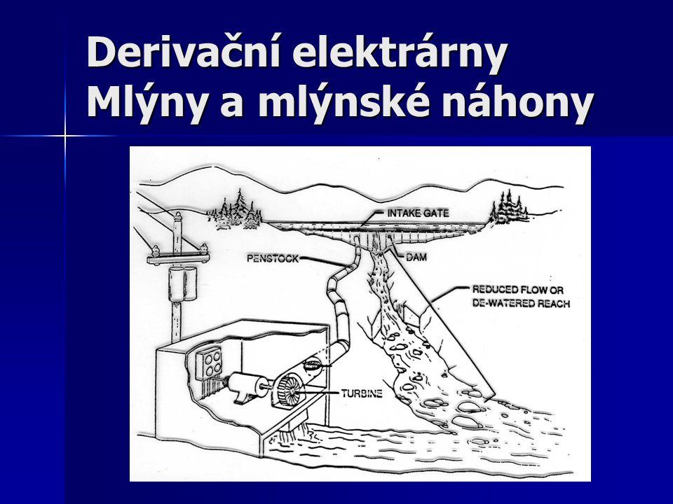 Derivační elektrárny Mlýny a mlýnské náhony