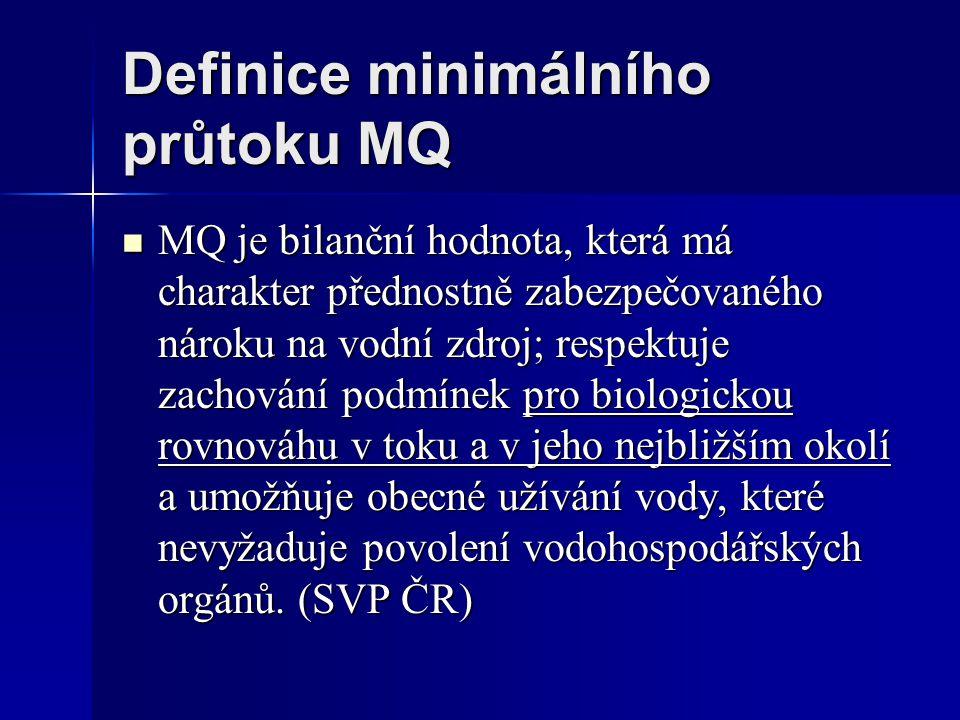 Definice minimálního průtoku MQ