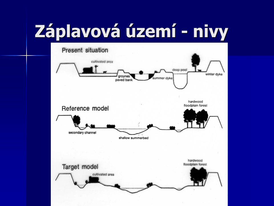 Záplavová území - nivy