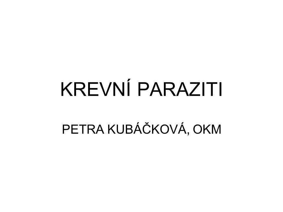 KREVNÍ PARAZITI PETRA KUBÁČKOVÁ, OKM