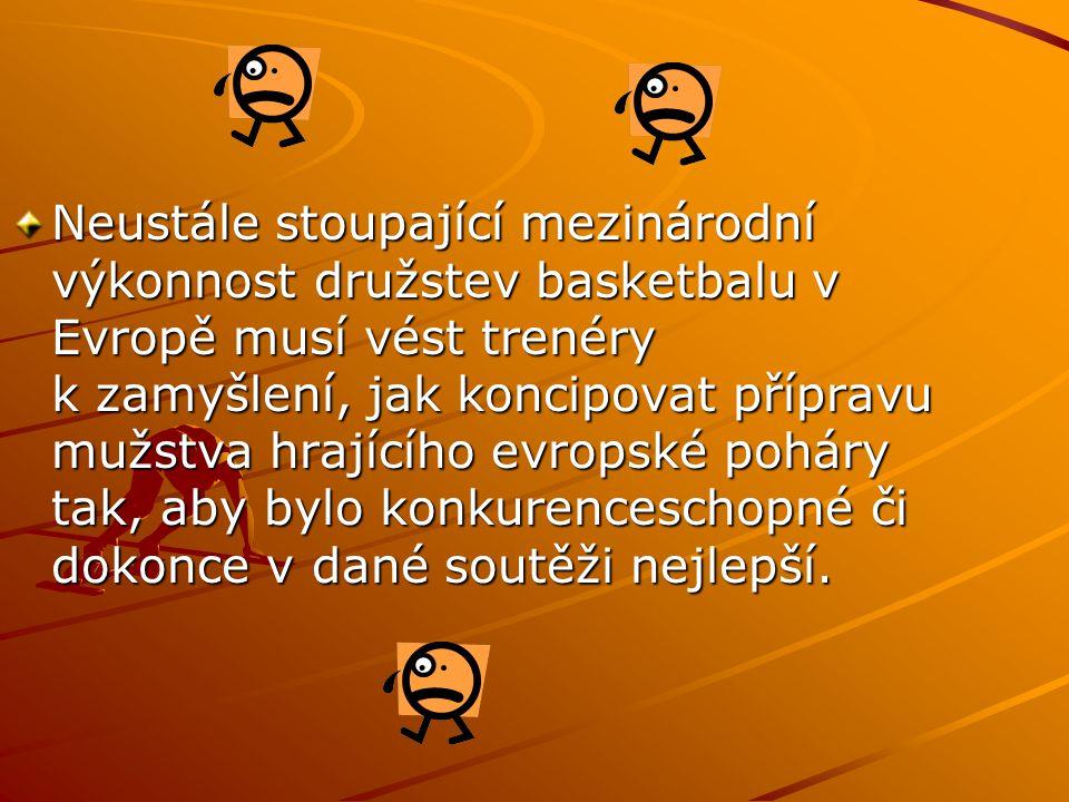 Neustále stoupající mezinárodní výkonnost družstev basketbalu v Evropě musí vést trenéry k zamyšlení, jak koncipovat přípravu mužstva hrajícího evropské poháry tak, aby bylo konkurenceschopné či dokonce v dané soutěži nejlepší.