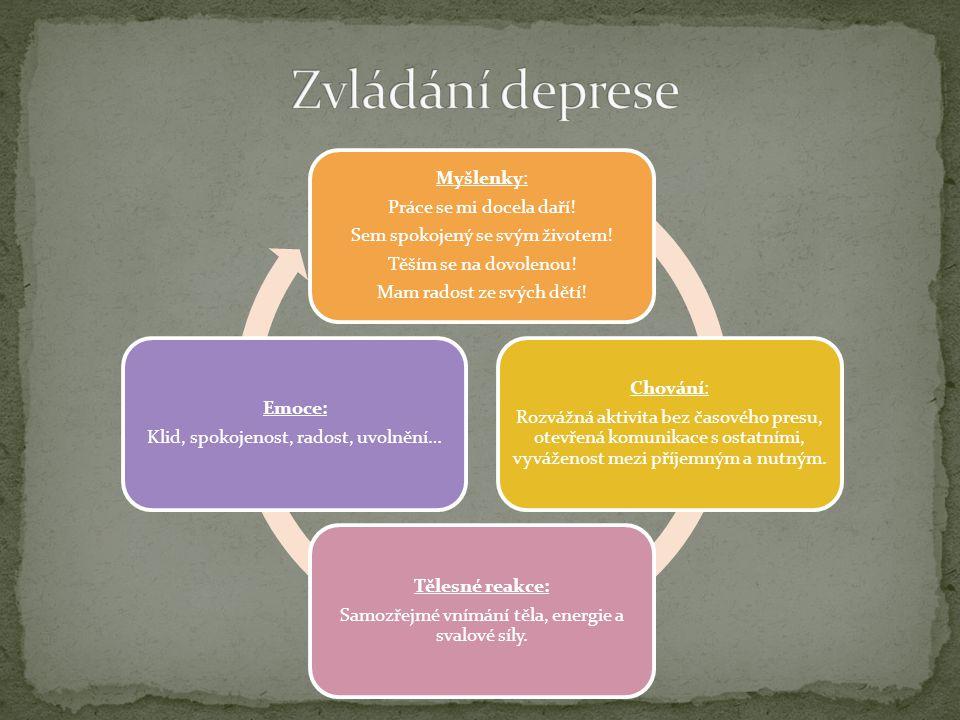 Zvládání deprese Sem spokojený se svým životem!