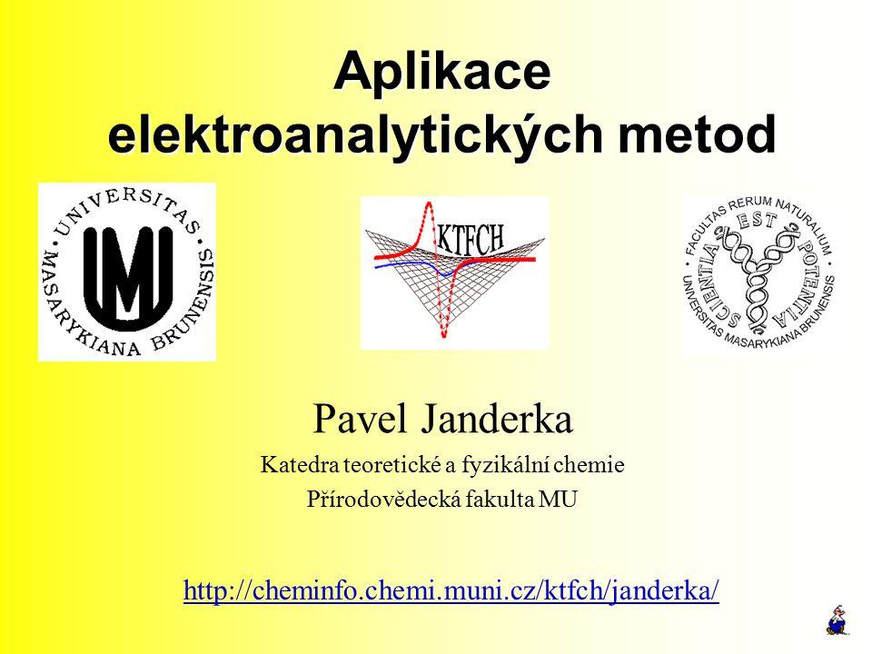 Aplikace elektroanalytických metod