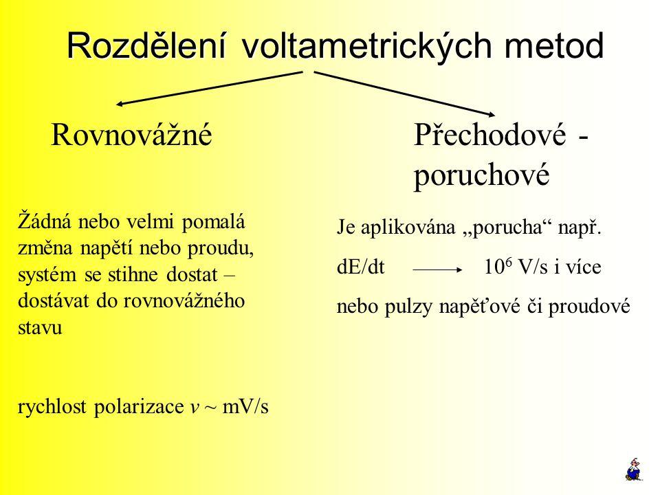 Rozdělení voltametrických metod
