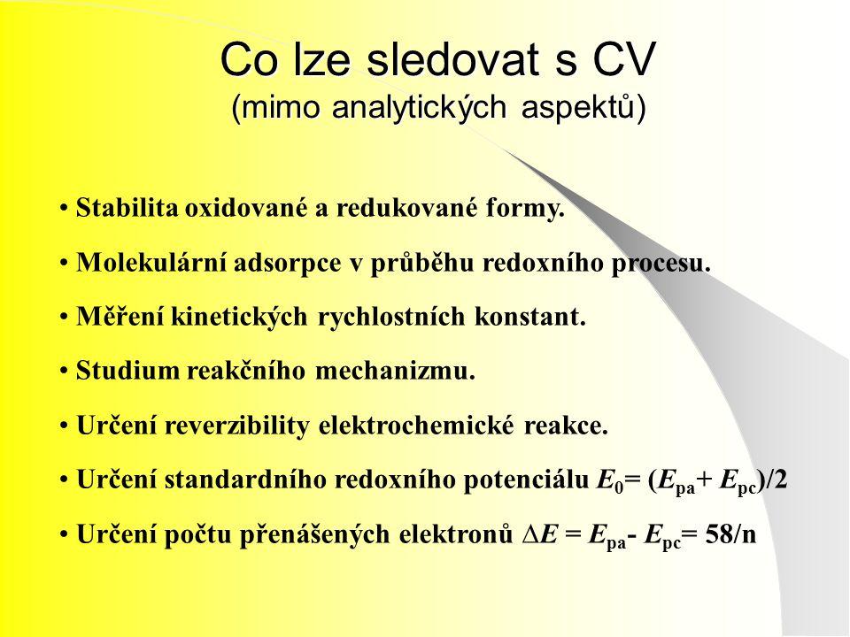 Co lze sledovat s CV (mimo analytických aspektů)