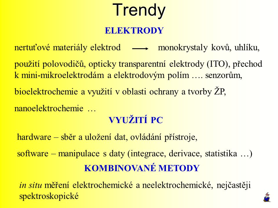 Trendy ELEKTRODY. nertuťové materiály elektrod monokrystaly kovů, uhlíku,