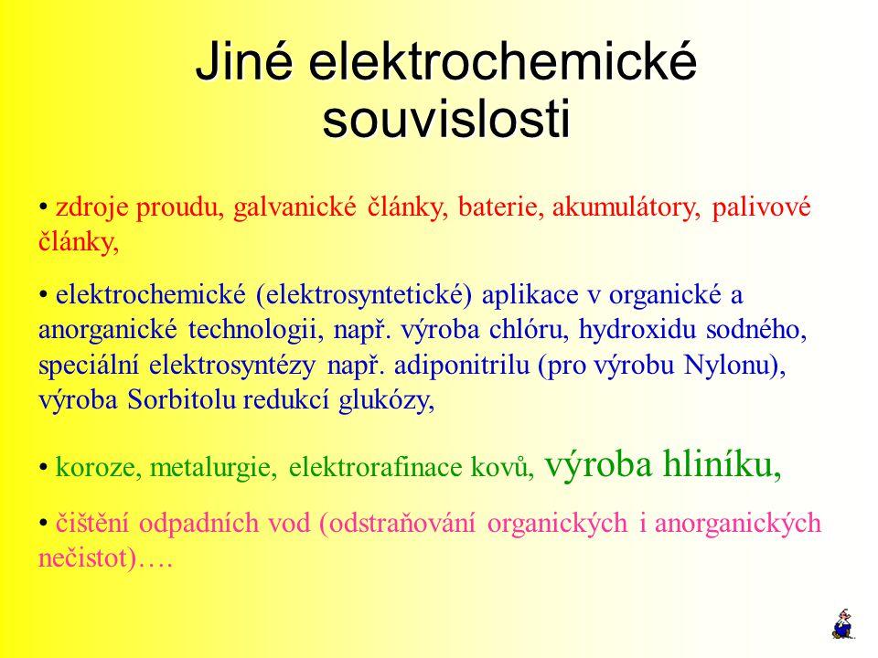 Jiné elektrochemické souvislosti