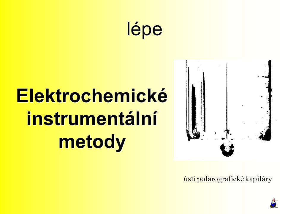Elektrochemické instrumentální metody