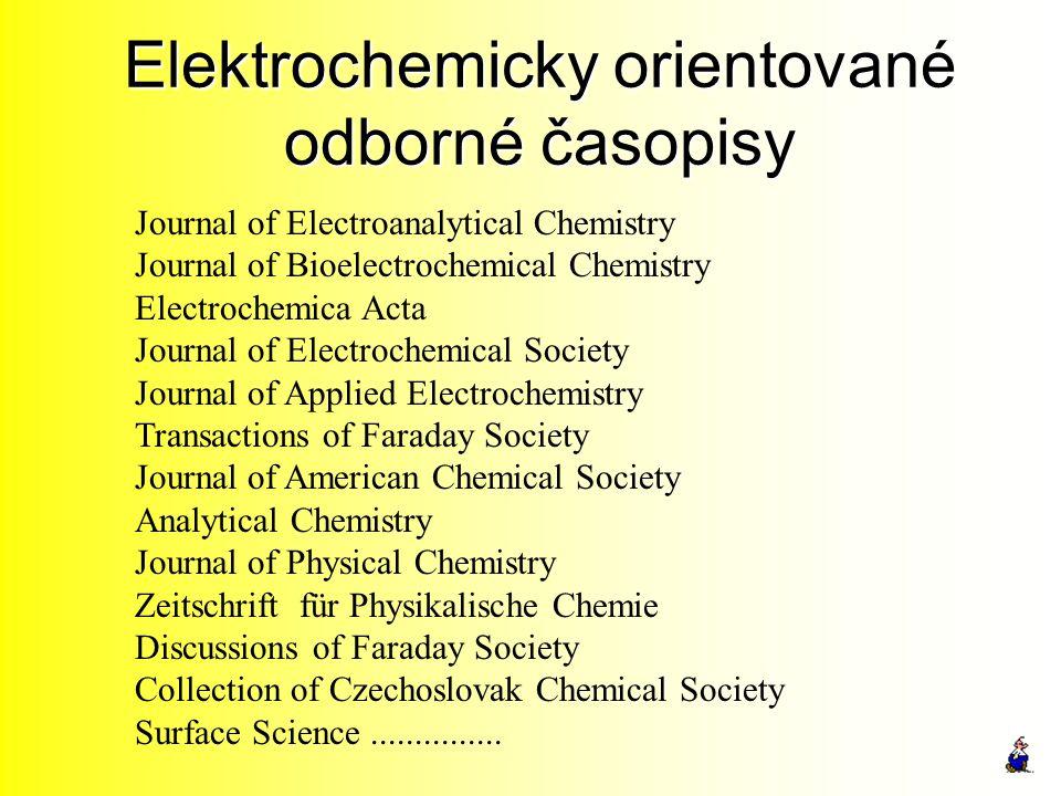 Elektrochemicky orientované odborné časopisy