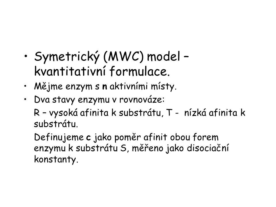 Symetrický (MWC) model – kvantitativní formulace.