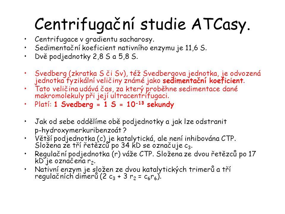 Centrifugační studie ATCasy.