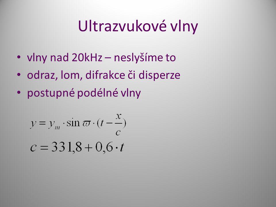 Ultrazvukové vlny vlny nad 20kHz – neslyšíme to