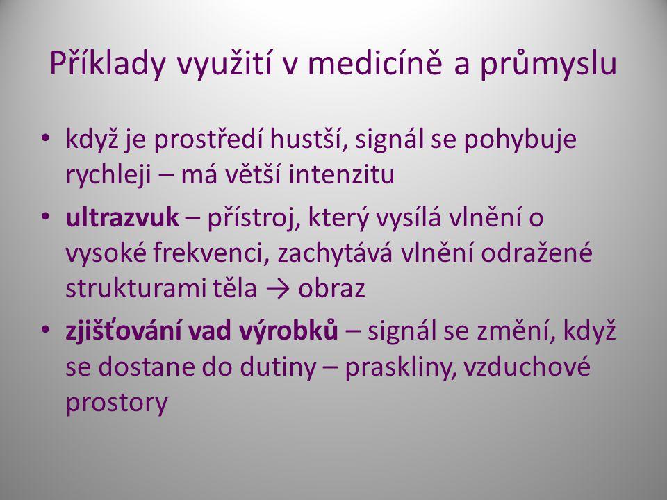 Příklady využití v medicíně a průmyslu