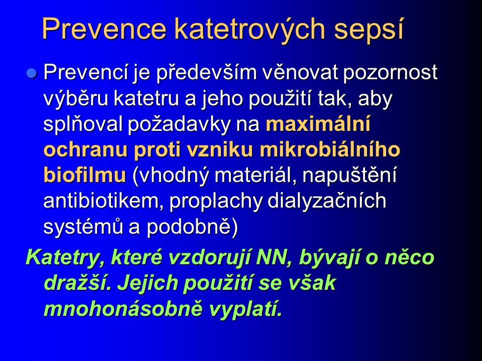 Prevence katetrových sepsí