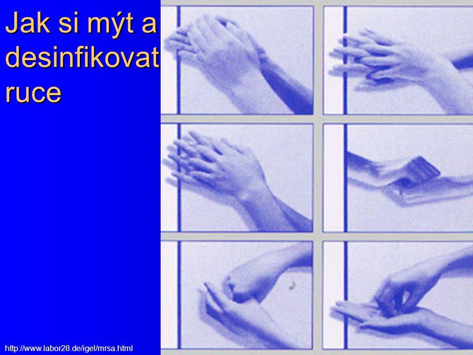 Jak si mýt a desinfikovat ruce