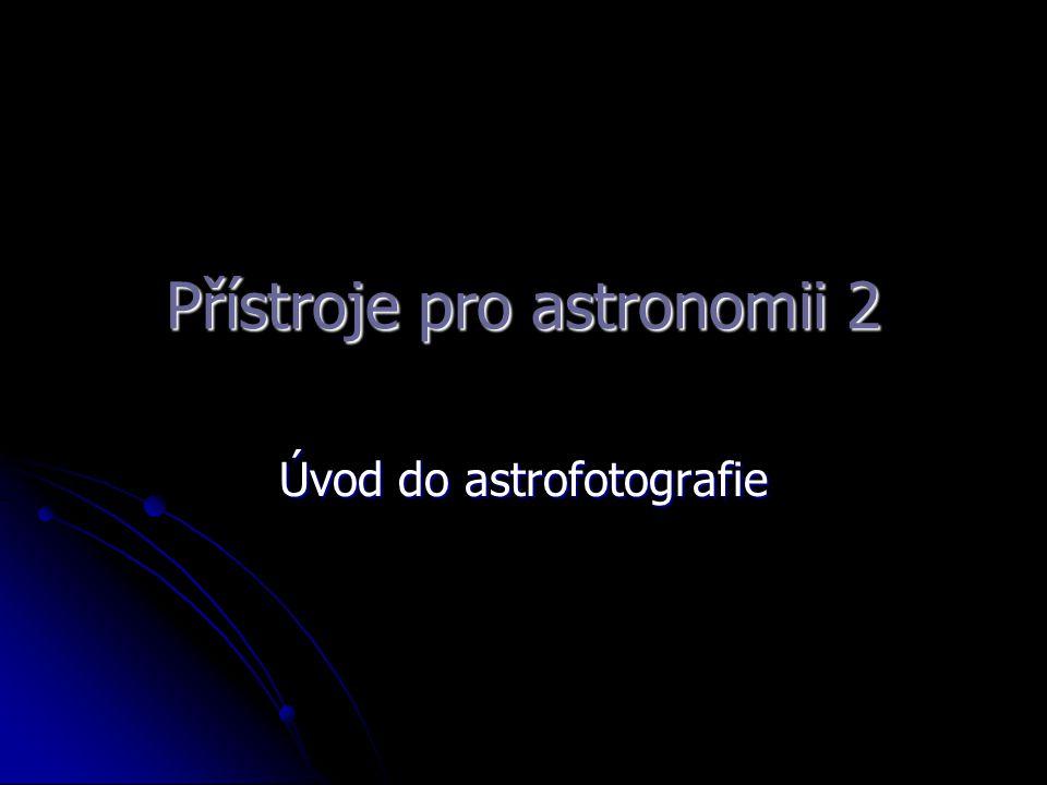 Přístroje pro astronomii 2
