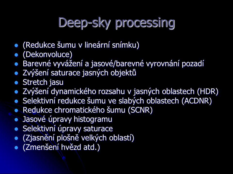 Deep-sky processing (Redukce šumu v lineární snímku) (Dekonvoluce)