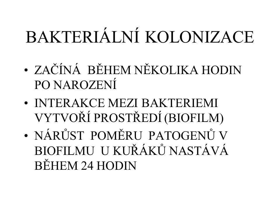 BAKTERIÁLNÍ KOLONIZACE