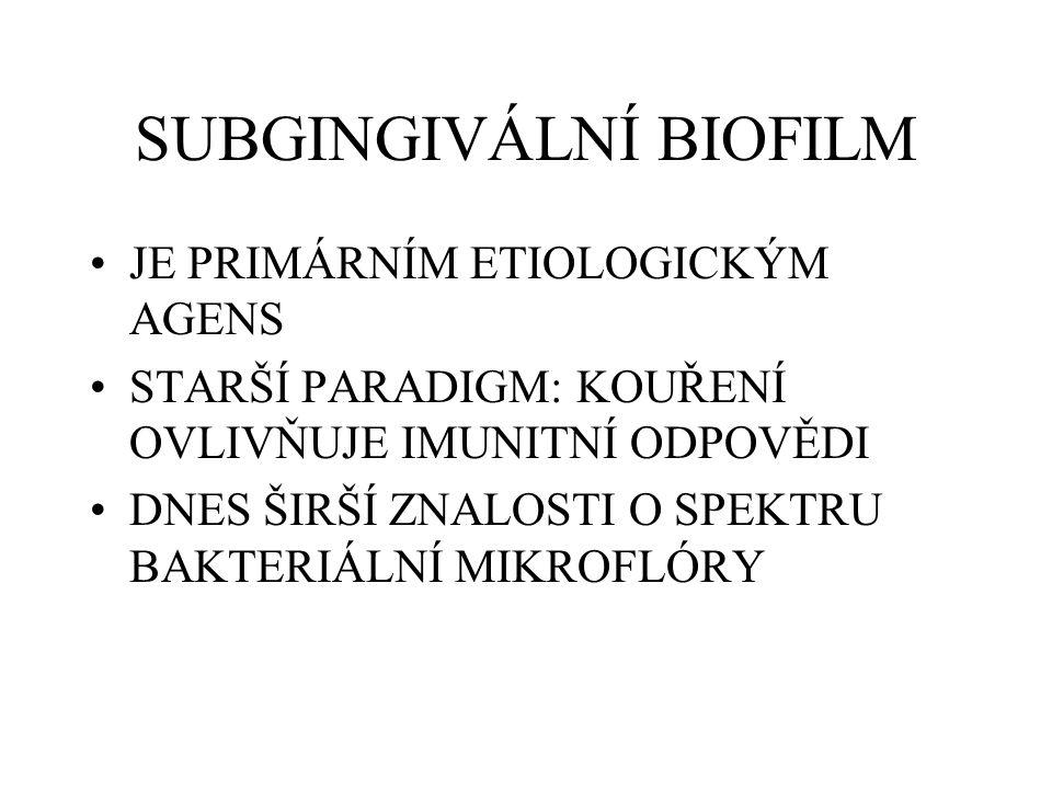 SUBGINGIVÁLNÍ BIOFILM