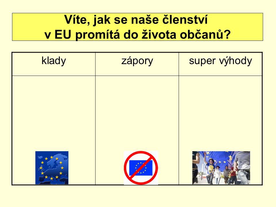 Víte, jak se naše členství v EU promítá do života občanů