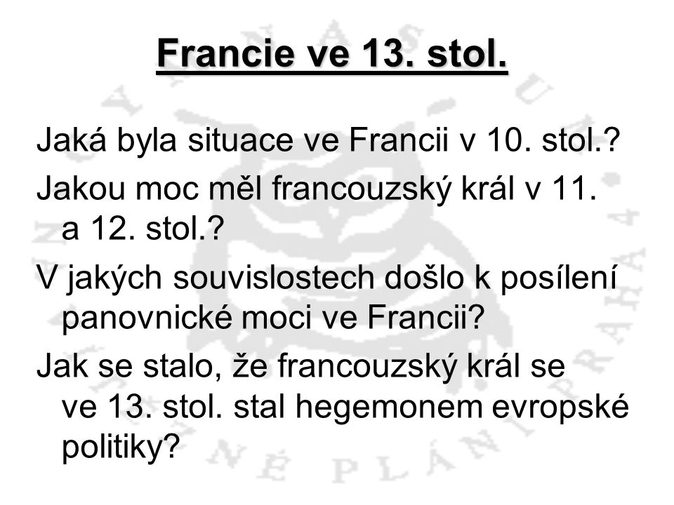 Francie ve 13. stol.