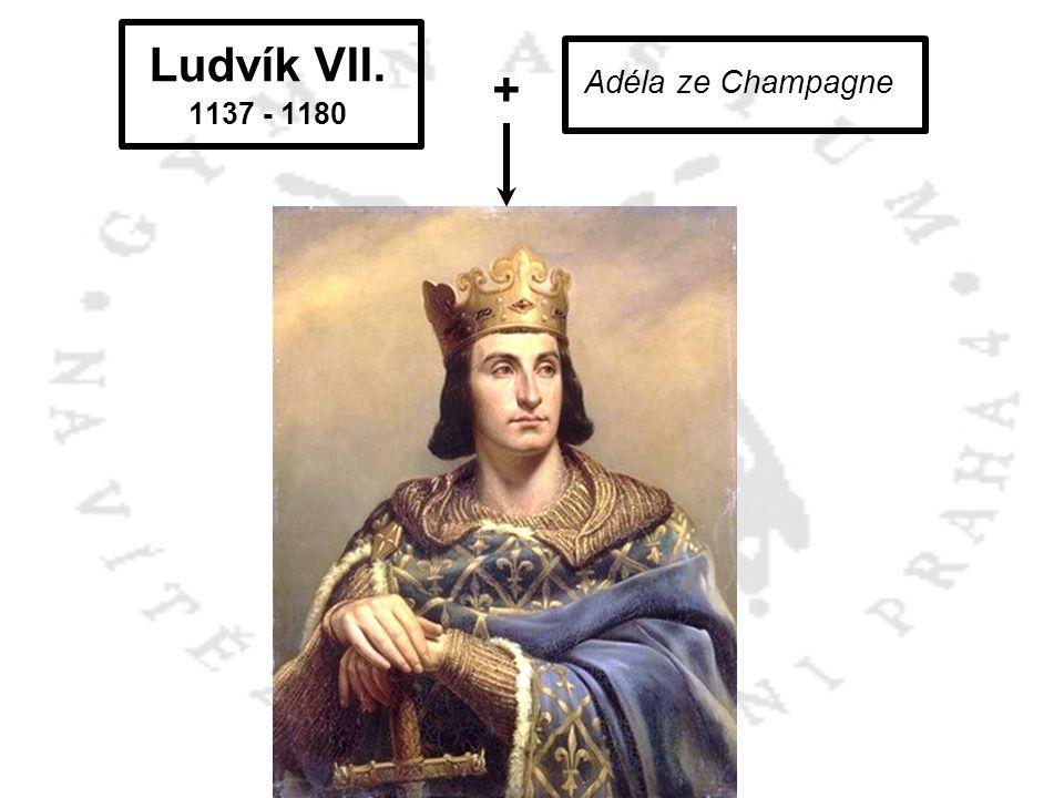 Ludvík VII. + Filip II. August 1137 - 1180 Adéla ze Champagne