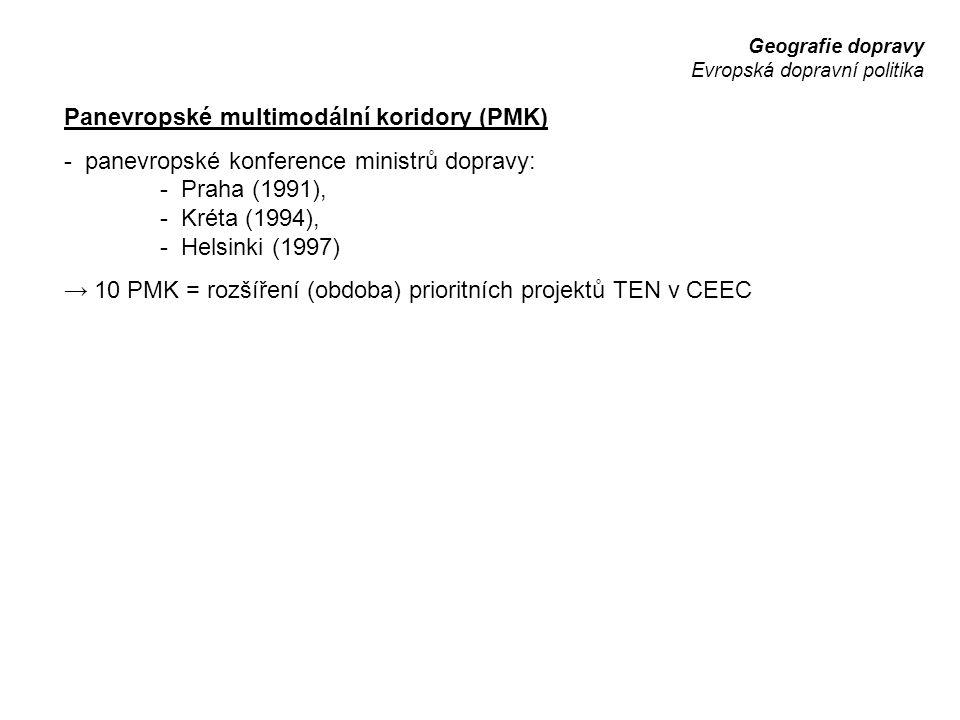 Panevropské multimodální koridory (PMK)