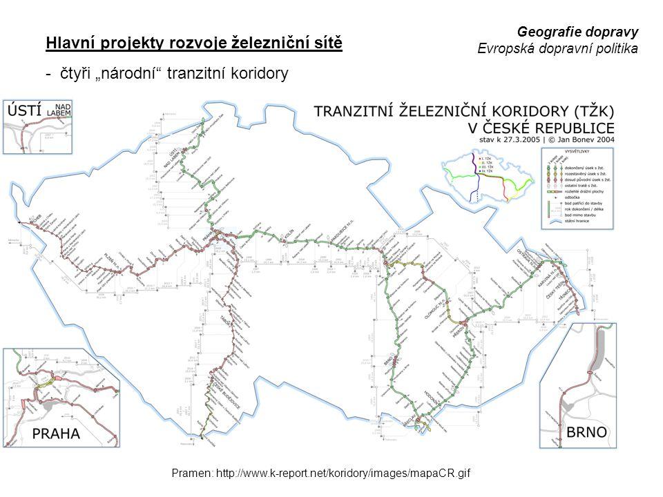 Hlavní projekty rozvoje železniční sítě