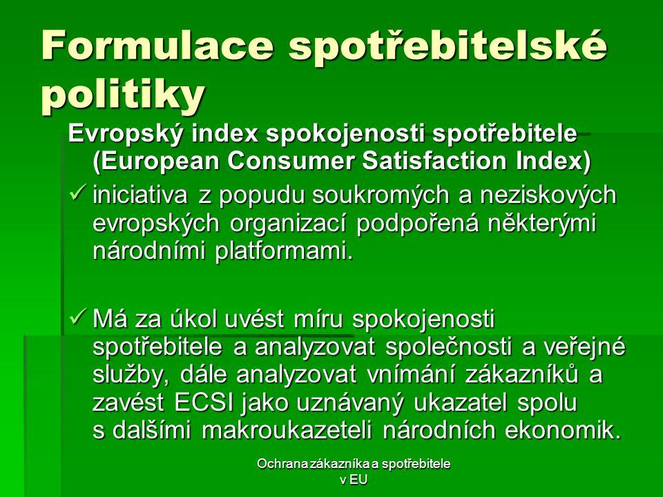 Formulace spotřebitelské politiky