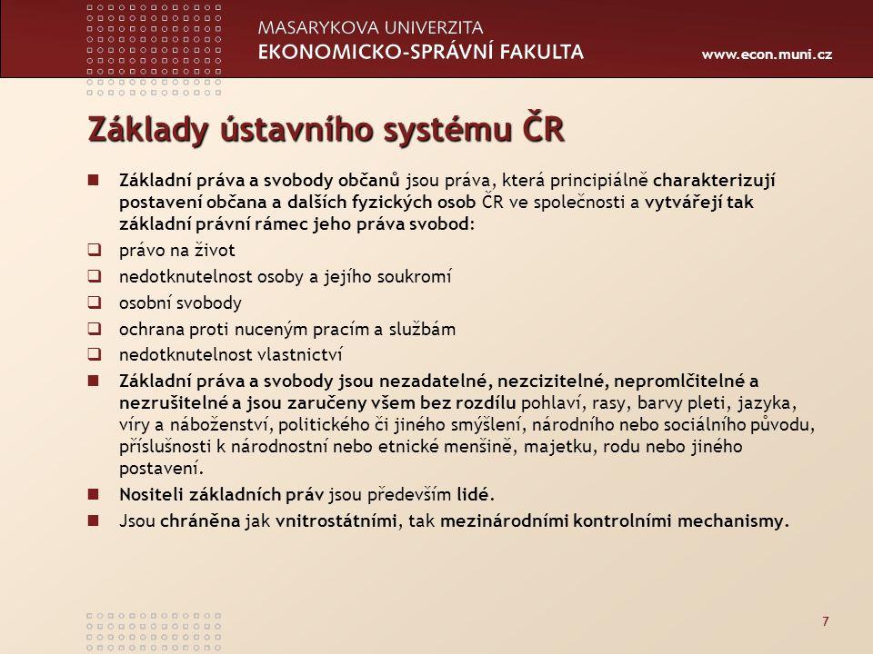 Základy ústavního systému ČR